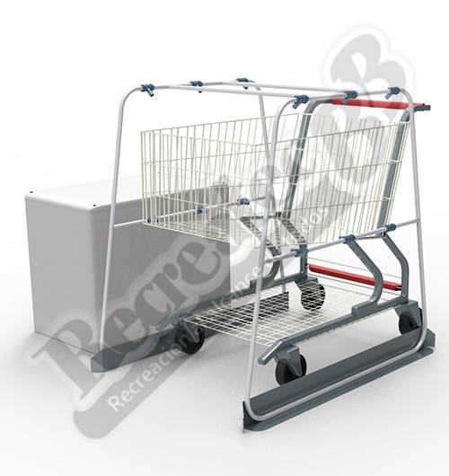 cabina sanitizante para carritos de supermercado