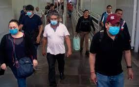 Imagen personas con cubrebocas en el estado de mexico